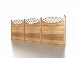 Garden fence panels 3d model