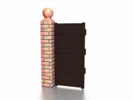 Garden gate column 3d model