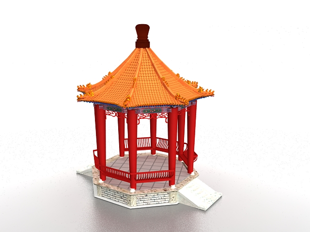 Chinese Gazebo 3d Model 3ds Max Files Free Download
