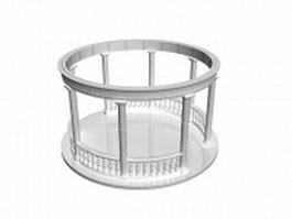 Circular stone gazebo 3d model