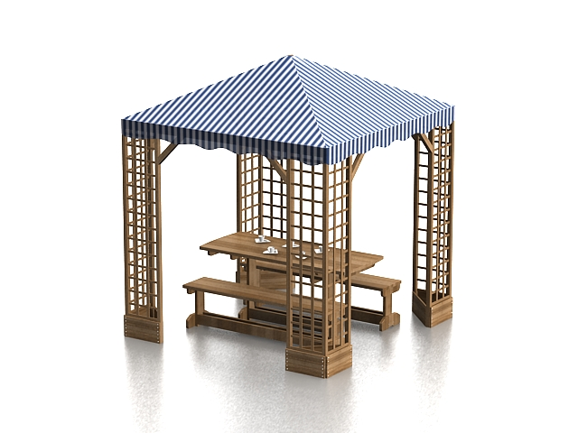 Patio Canopy Gazebo 3d Model 3ds Max Files Free Download
