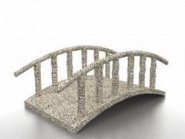 Aggregate garden bridge 3d model