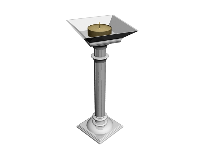 Vintage garden pillar 3d model 3ds max files free download