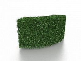 Box hedge garden 3d model