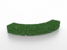 Curved box hedge 3d model