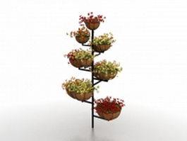 Flower pot plant stand 3d model