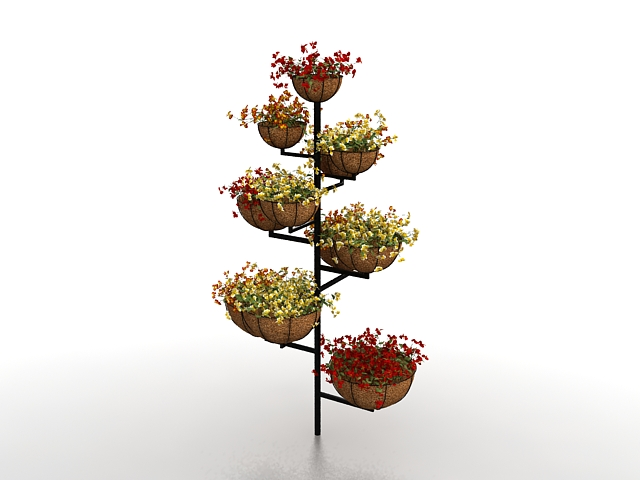 Flower Pot Plant Stand 3d Model 3ds Max Files Free