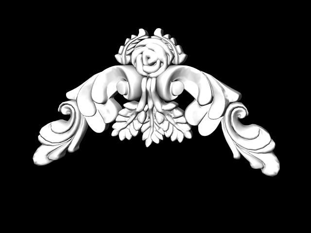 decorative plaster ornament 3d model 3ds max files free download