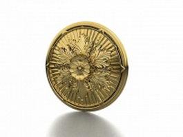 Gold ceiling medallion 3d model