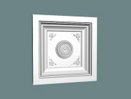 Decorative ceiling molding 3d model
