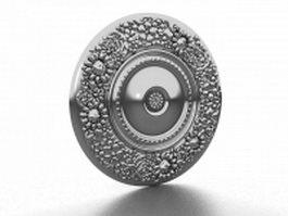 Metal medallion wall art 3d model