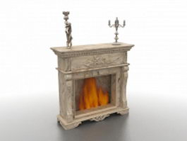 Antique fireplace 3d model