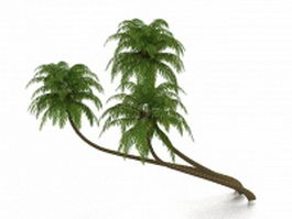 Tropical palm trees 3d model