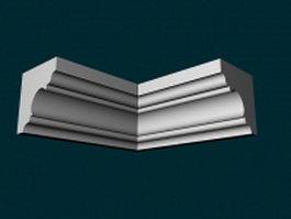 Corner molding for walls 3d model