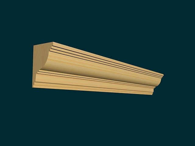 Wood Crown Molding 3d Model 3ds Max Files Free Download