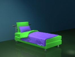 Modern twin bed for adults 3d model