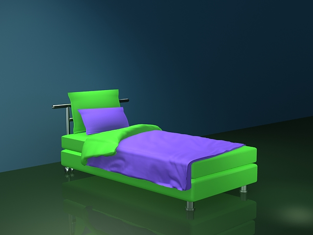 Modern twin bed for adults 3d model 3ds max files free download modeling 27269 on cadnav - Modern tuinmodel ...