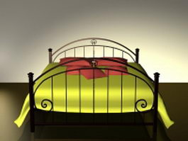 Curved metal bed 3d model