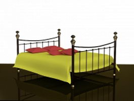 Brass bed 3d model
