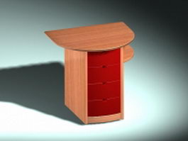 Bedside cabinet furniture 3d model
