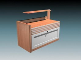 Modern bedside cabinet 3d model