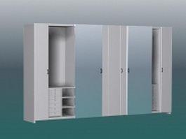 White wardrobe closet 3d model