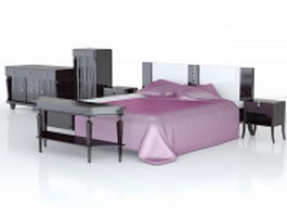 Bedroom furniture sets 3d model