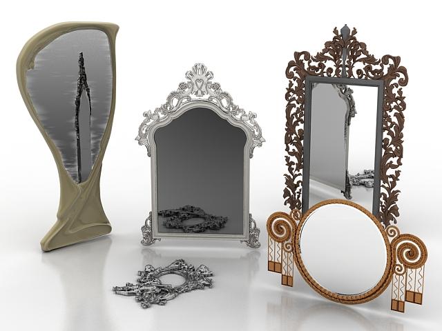 Bedroom mirrors 3d model 3d studio 3ds max files free for Mirror 3d model
