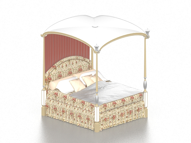 Teen girl canopy bed 3d model 3ds max files free download
