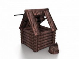 Old wishing well 3d model