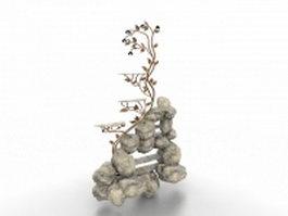 Small rockery 3d model