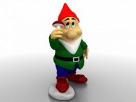garden santa gnome 3d model