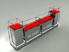 Bank counter 3d model