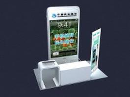 Bank customer service counter 3d model