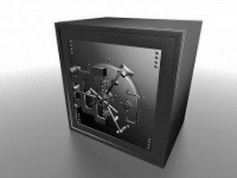 Steel safe bank 3d model