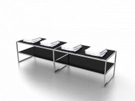 Clothing store display table 3d model