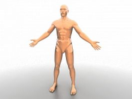 Realistic male mannequin 3d model