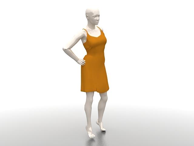 Female Dress Mannequin 3d Model 3ds Max Files Free