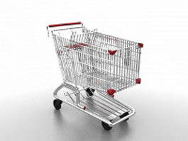 Grocery shopping cart 3d model