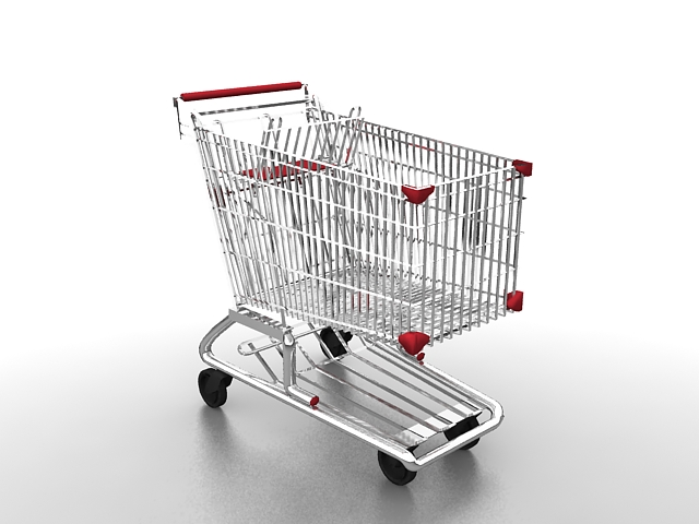 grocery shopping cart 3d model 3ds max files free download