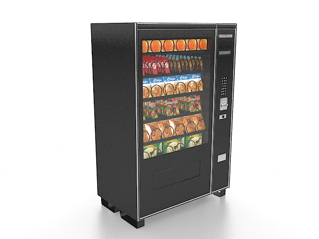 Snack Vending Machine 3d Model 3ds Max Files Free Download