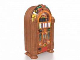 Vintage vending machine 3d model