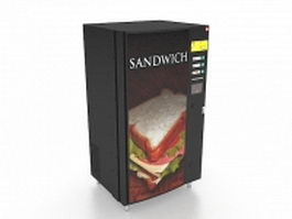 Sandwich vending machine 3d model