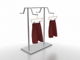 Clothing display rack 3d model