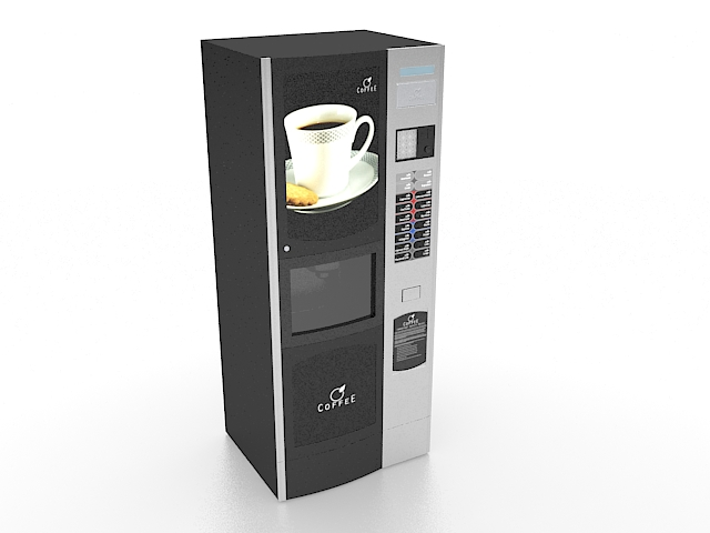 Commercial Coffee Vending Machine 3d Model 3ds Max Files