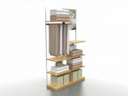Textile display racks 3d model