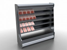 Fresh meat display case 3d model