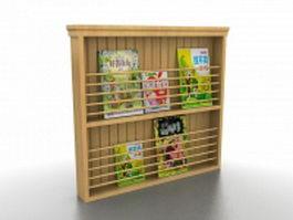 Comic book display rack 3d model