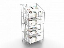 Newspaper display rack stand 3d model