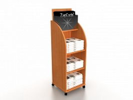 Wooden newspaper stand 3d model